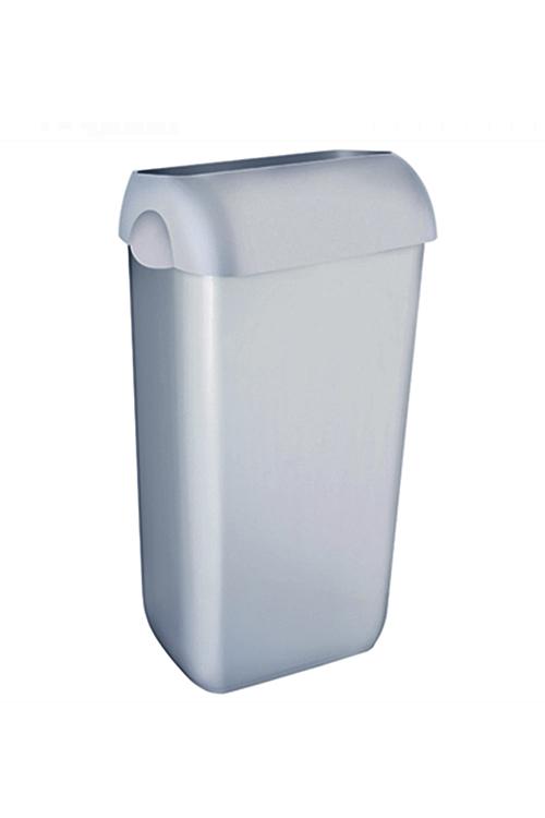 Abfallbehälter aus Kunststoff Satin inklusive Deckel mit Einwurföffnung