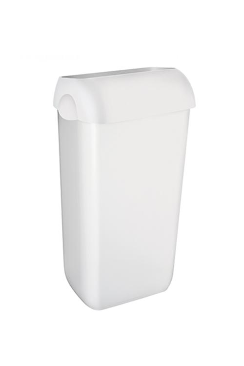 Abfallbehälter aus Kunststoff Weiß inklusive Deckel mit Einwurföffnung