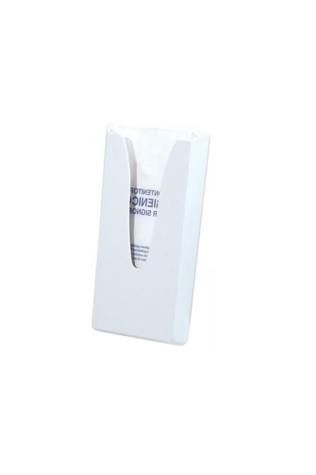 Hygienebeutelspender Wandhalter Weiß aus Kunststoff für Hygienebeutel Papiertüten