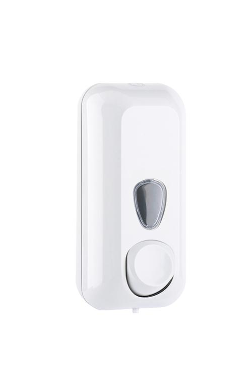 Universalsepender für Seife, Flüssighandcreme und Desinfektion aus Kunststoff Weiß